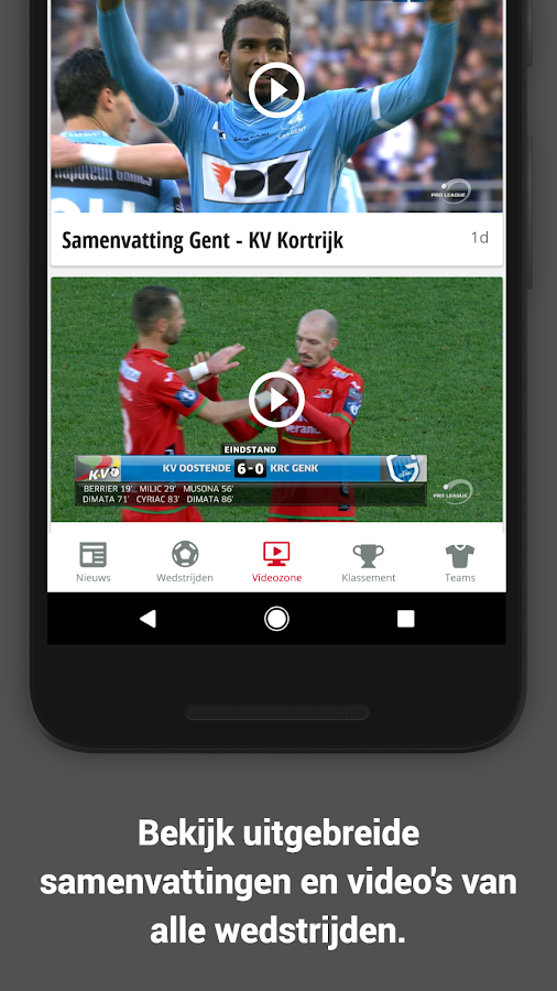 Jupiler Pro League (official)- screenshot