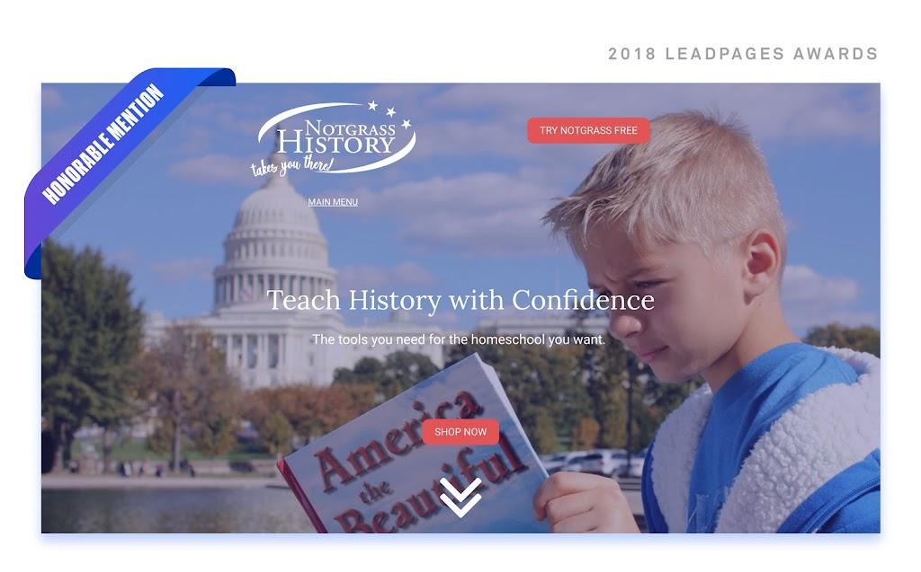 notgrass history homeschooling hero image