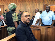 Mozambique's former finance minister Manuel Chang in a Johannesburg court.
