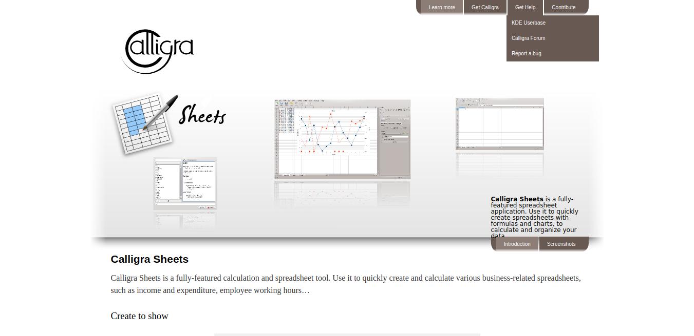 Hojas de caligrafía: alternativa a Excel