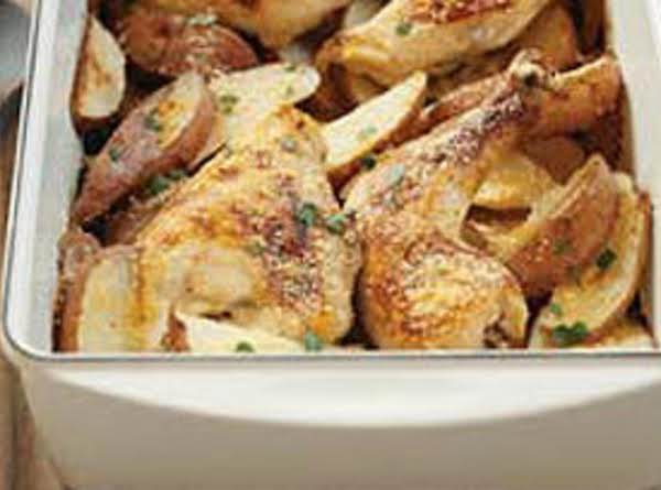 One-pan Chicken And Potato Bake Recipe