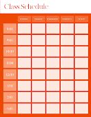 Bold Class Schedule - Weekly Planner item