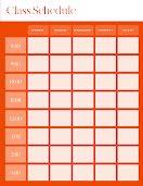 Bold Class Schedule - Weekly Schedule item