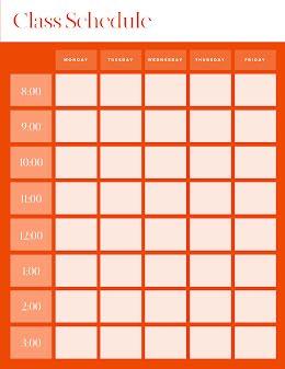 Bold Class Schedule - Class Schedule item