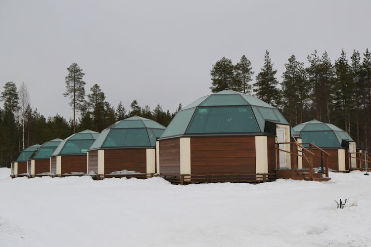 Glass Igloos at Arctic Snow Hotel in Finnish Lapland.