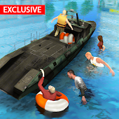 Flood Rescue Speed Boat Simulator : Lifeguard Help