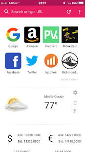 Kobat Browser - náhled