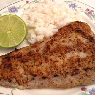 Grilled Bluefish With Mustard Glaze