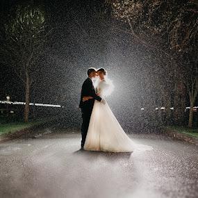 Magical night shot in Woodlands Adare  by Kaspars Sarovarcenko - Wedding Bride & Groom ( wedding photography, wedding photographer limerick )