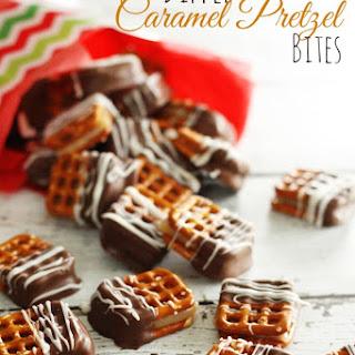 Dipped Caramel Pretzel Bites