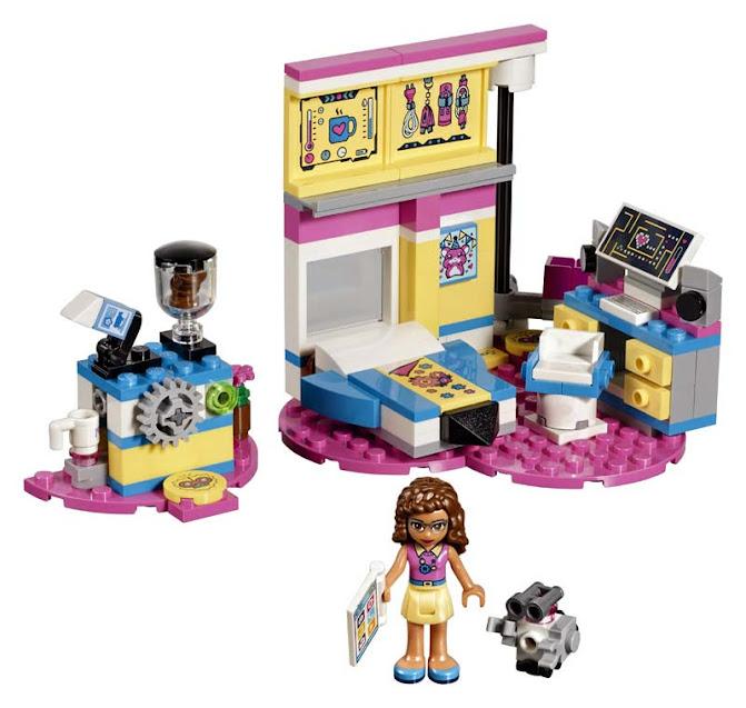 Contenido de Lego® 41329 Gran Dormitorio de Olivia