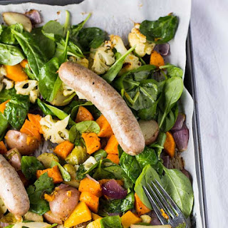 Turkey Sausage and Root Vegetable Sheet-Pan Dinner