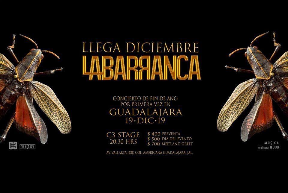 La Barranca «Llega diciembre» en Guadalajara