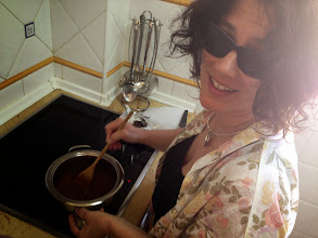 Photo: Sid stirring hot chocolate