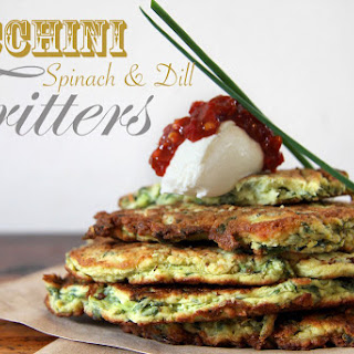 Zucchini, Spinach & Dill Fritters