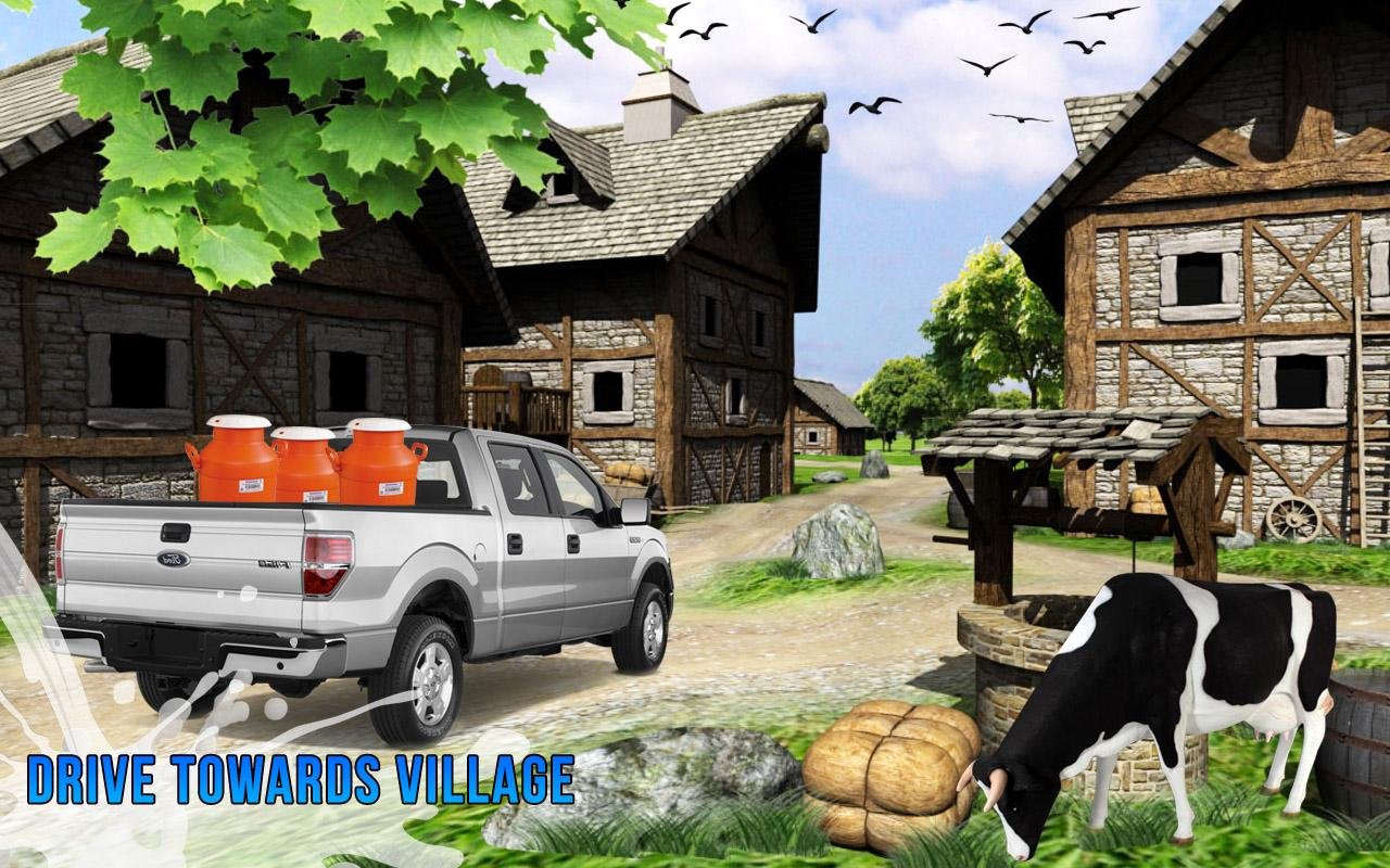 Milk Van Delivery 3D - Dairy Transport Truck sim- screenshot