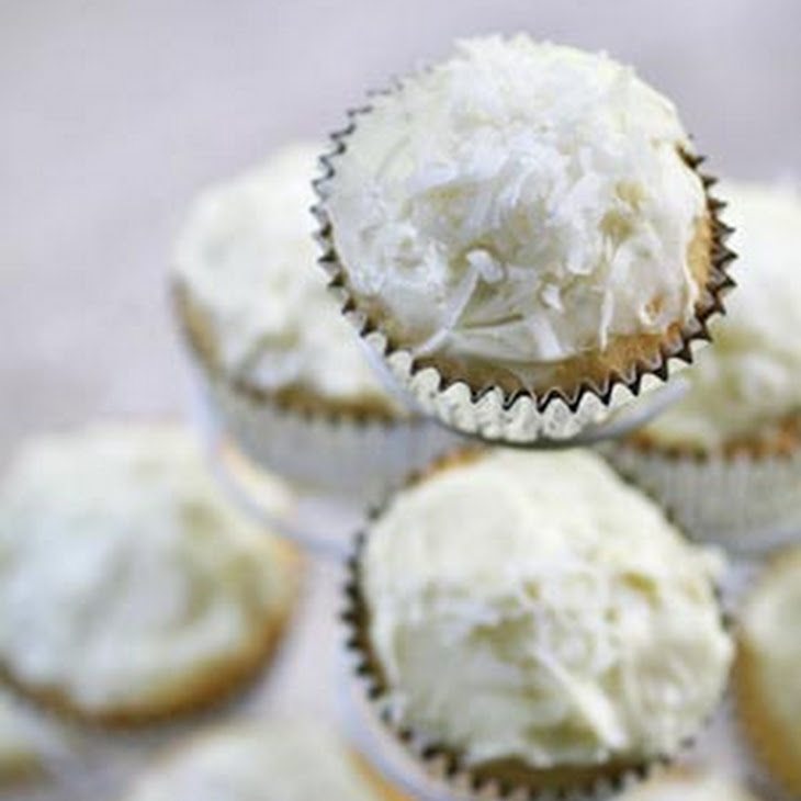 Coconut Cupcakes with Coconut Cream Cheese Frosting