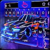 Neon Sports Car Keyboard Theme file APK Free for PC, smart TV Download