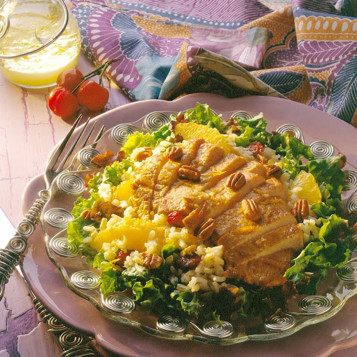 Pork, Brown Rice, Cherry and Pecan Salad Recipe