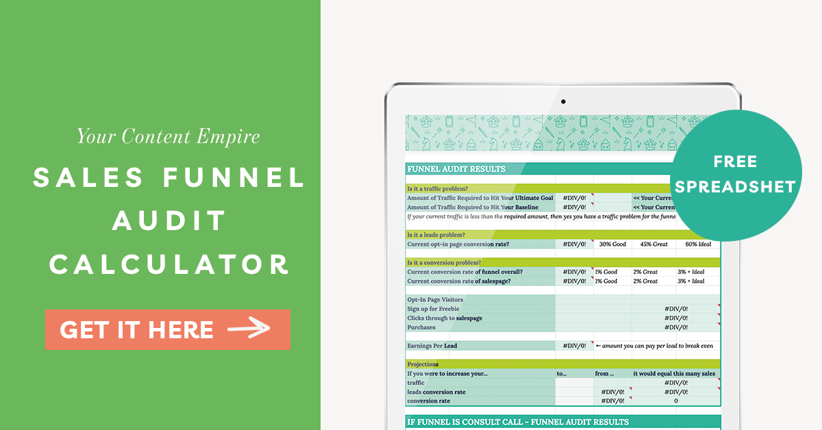 Sales Funnel Audit Calculator by Your Content Empire