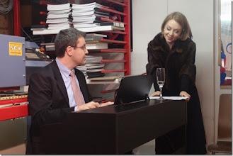 """Photo: BUCHPRÄSENTATION """"DER UNTERGANG DER LIEBE"""" von MEINHARD RÜDENAUER am 13.2.2015. Maria Nazarova und Janko Kastelic gestalteten das musikalische Programm.  Foto: Herta Haider"""