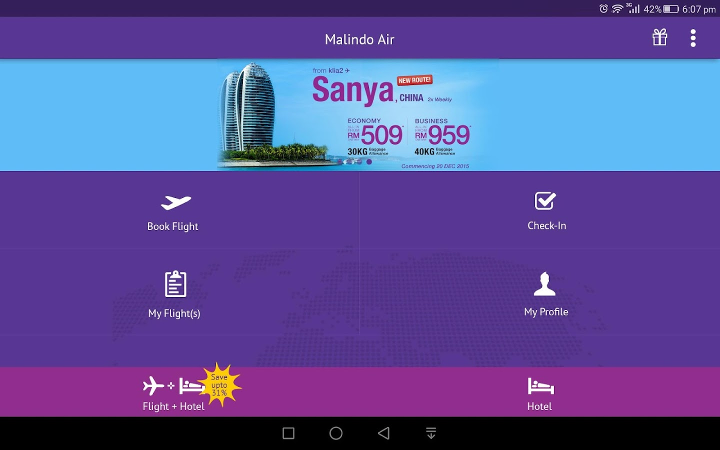 Malindo Air- screenshot