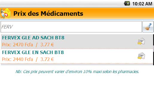 Prix des Médicaments Pharmacie - náhled