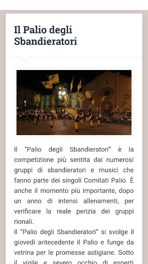 Palio di Asti- screenshot