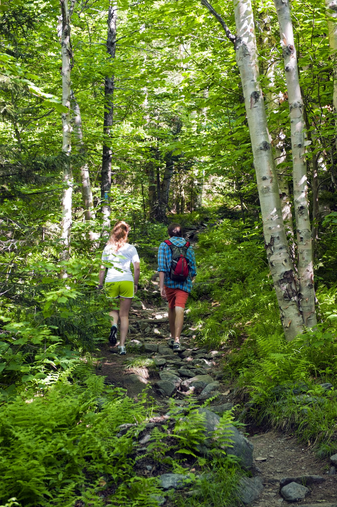 Photo: Couple hiking in Camel's Hump State Park by Dennis Curran