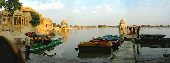 Photo: Gadsisar Lake was man-made, in the 1300s, in the middle of the Thor desert.  It gives you an idea how wealthy Jaisalmer was as a key point on the silk road.