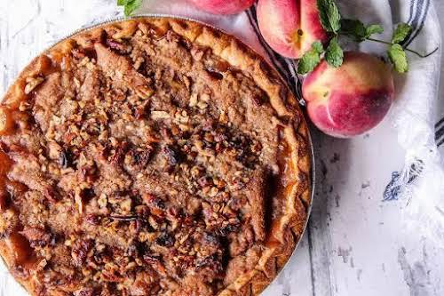 """Peach Crumble Pie""""Bring on the smiles when you present them with this..."""