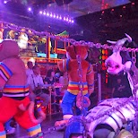 panda riding cow at the Robot Restaurant in Kabukicho in Kabukicho, Tokyo, Japan