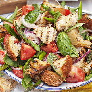 Grilled Asparagus Panzanella Salad