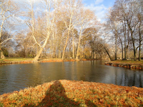Photo: Sunset on an autumn pond at Eastwood Park in Dayton, Ohio.