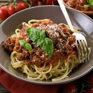 One Pot Spaghetti Bolognese.