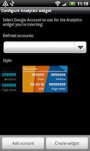 Analytics Widget screenshot 2