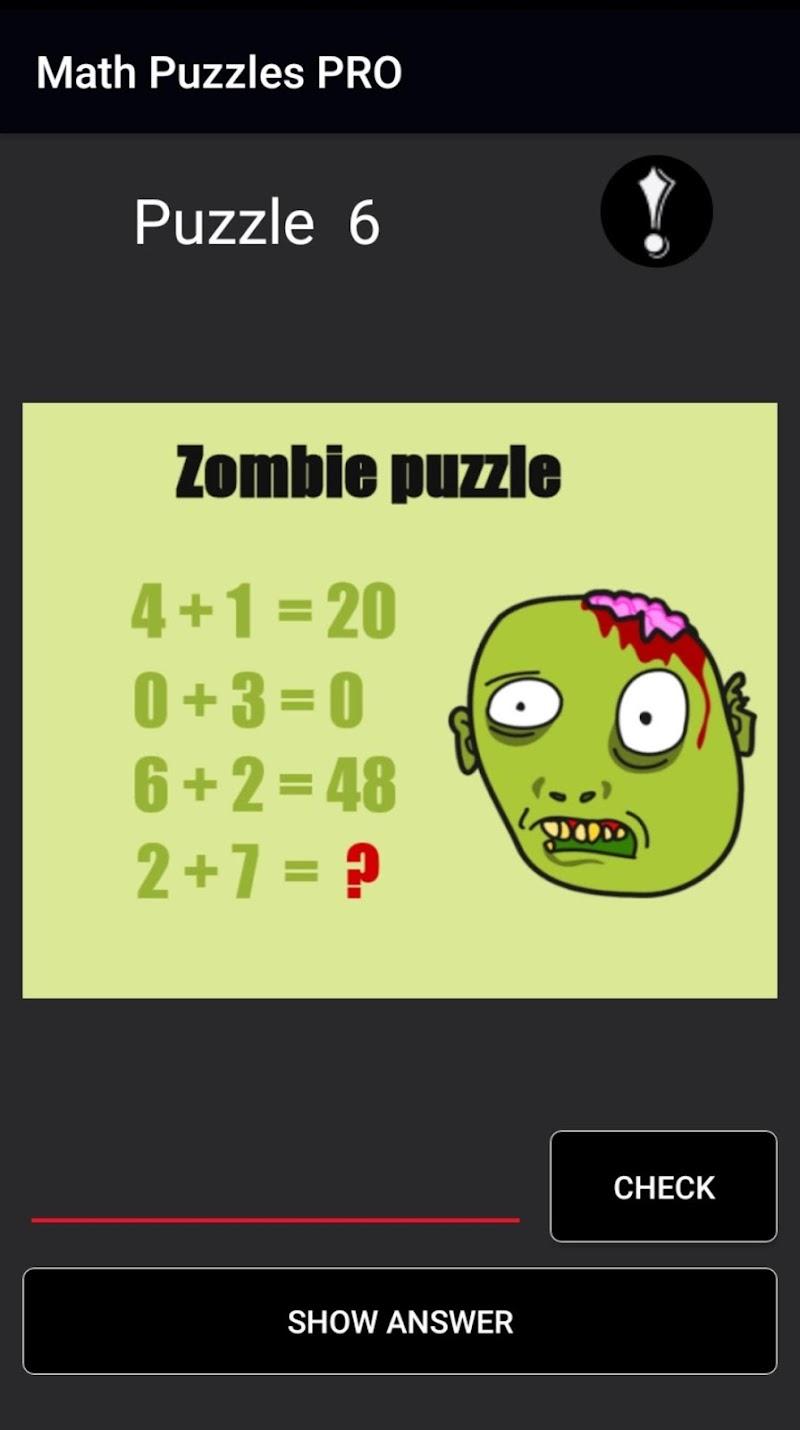 Hardest Math Riddles and Puzzles PRO 2019 Screenshot 1