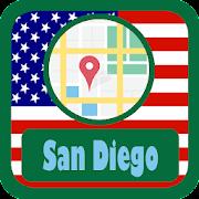 USA San Diego City Maps  Icon