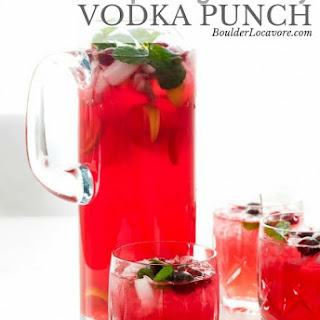 Sparkling Cranberry Vodka Punch Recipe