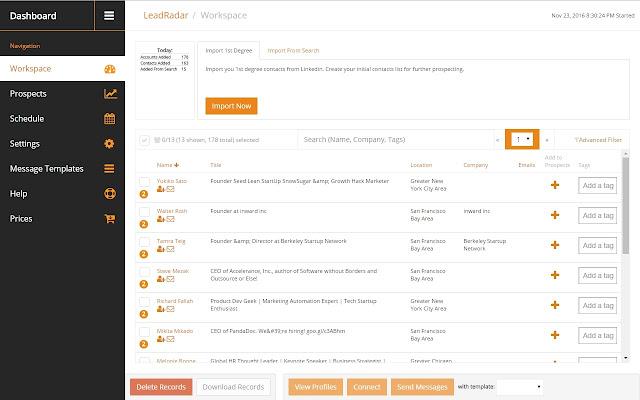LeadRadar - LinkedIn automation tool