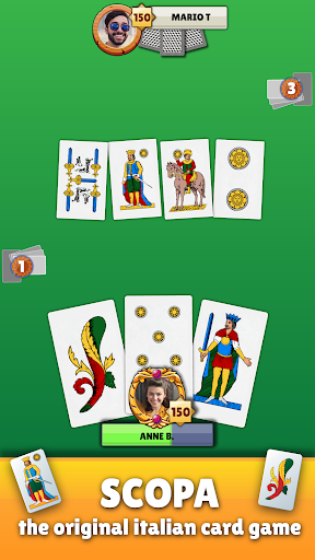 Scopa - Free Italian Card Game Online apkpoly screenshots 1