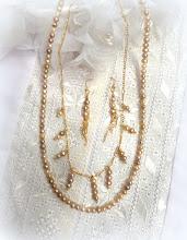 Photo: # 218  FW pearls, 14K vermeil $110 SOLD