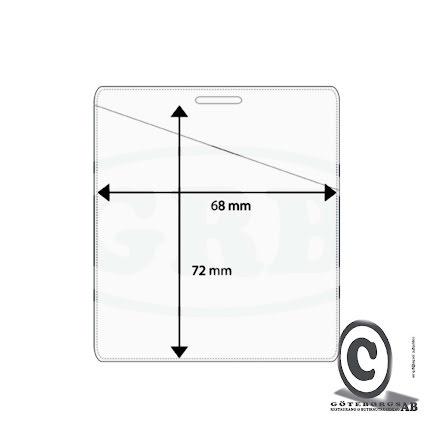 Plastficka, 68x72 mm Snedställd öppning