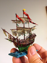 Photo: Shadewraith -- it's supposed to be a ghost ship, but with all the seaweed hanging from it I decided it would be more interesting to paint as a zombie ship.