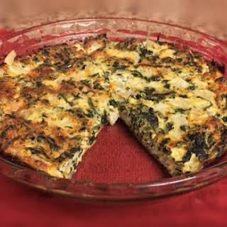 Spinach and Feta Crustless Quiche.