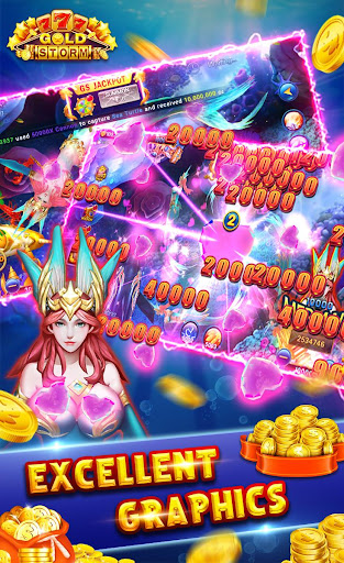 Gold Storm Casino - Asian Fishing Arcade Carnival 1.0.54 screenshots 2