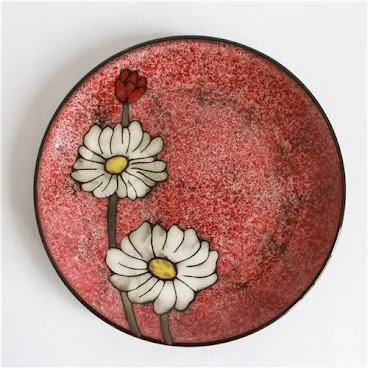 Red flower flat plate