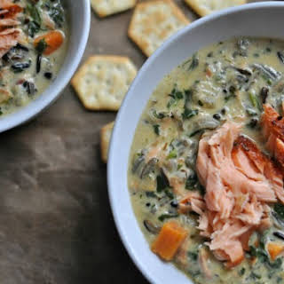 Salmon Wild Rice Soup.