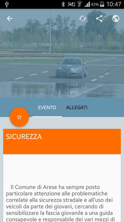 InfoArese- screenshot