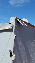 Photo: Outdoor solar light in the back garden with a movement sensor